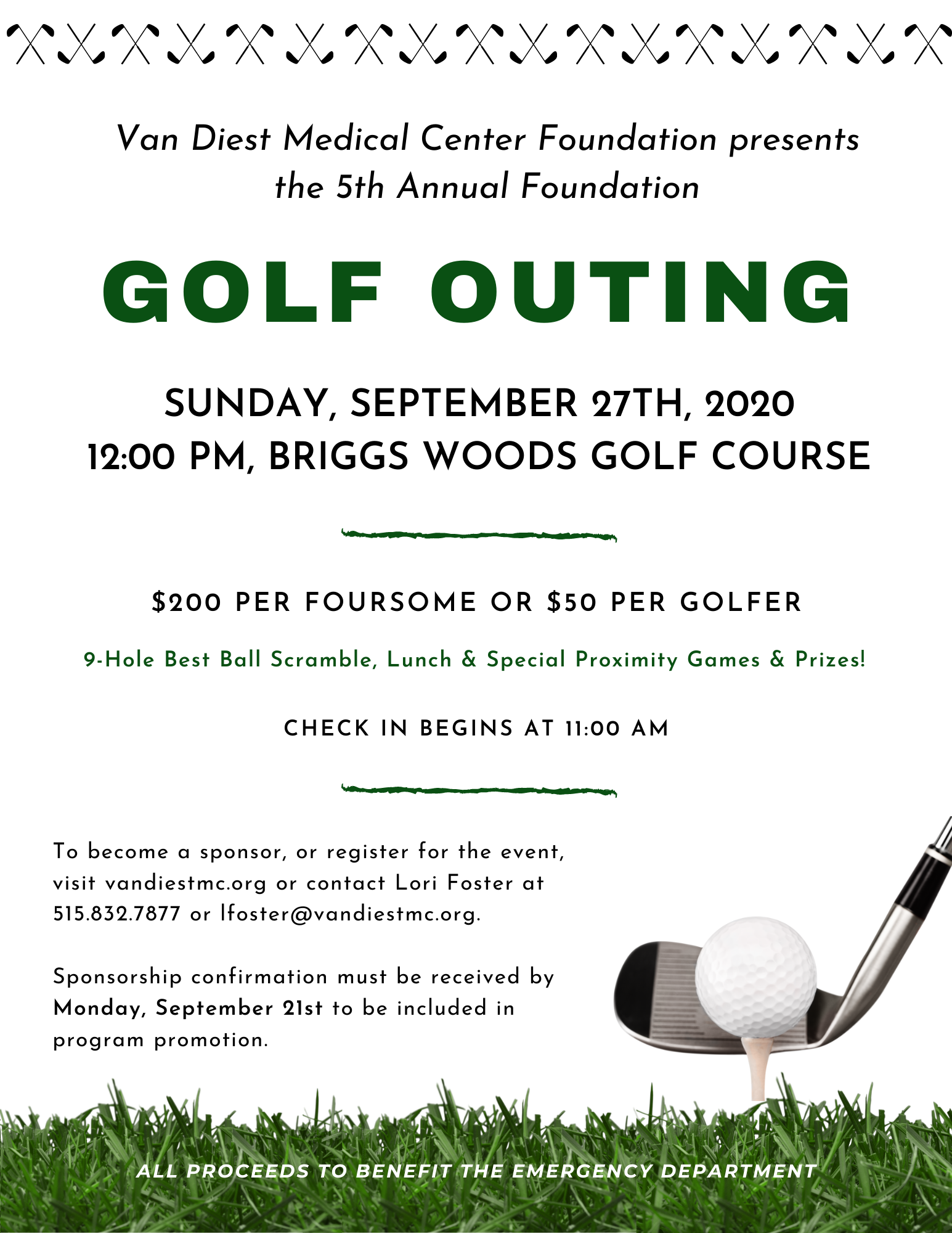 Foundation Golf Outing Flyer