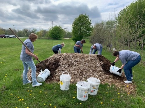 VDMC Team mulching trees in the community